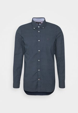 SLIM MICRO PRINT - Shirt - blue