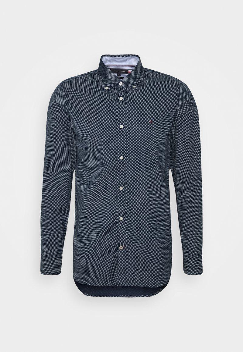 Tommy Hilfiger - SLIM MICRO PRINT - Shirt - blue