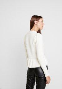 Carin Wester - JUMPER LUCINDA - Stickad tröja - snow white - 2
