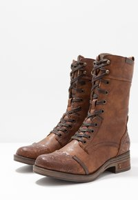 Mustang - Lace-up boots - cognac - 4