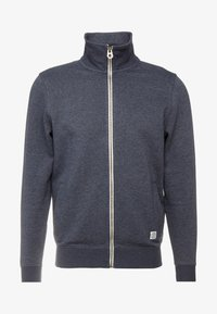 Zip-up sweatshirt - washed navy melange/blue