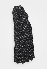 MAMALICIOUS - MLTABITTA DRESS - Jersey dress - black/white - 1