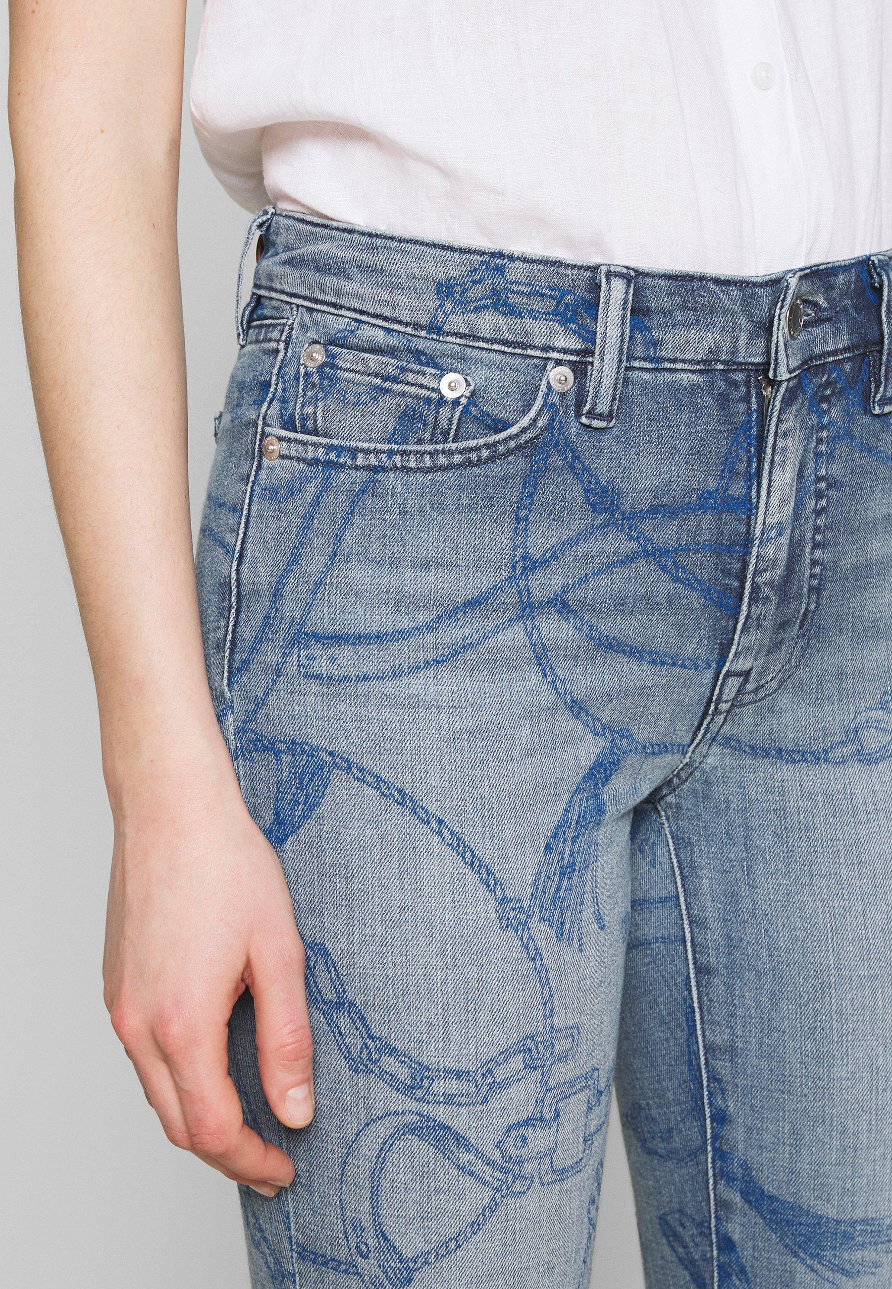 Lauren Ralph Jeans Skinny Fit - Worn Indigo Wash