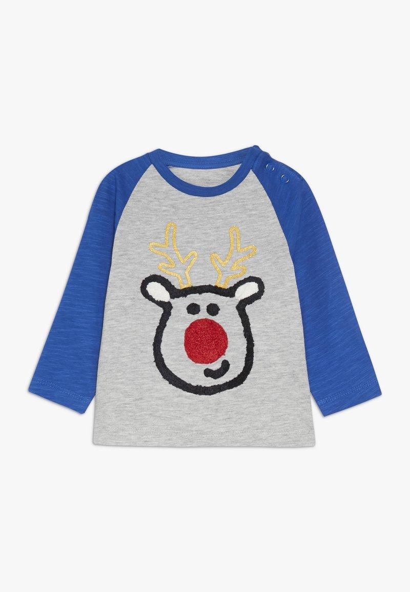 mothercare - BABY REINDEER RAGALN TEE - Long sleeved top - blue