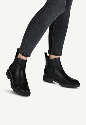 Ankle boots - black leather