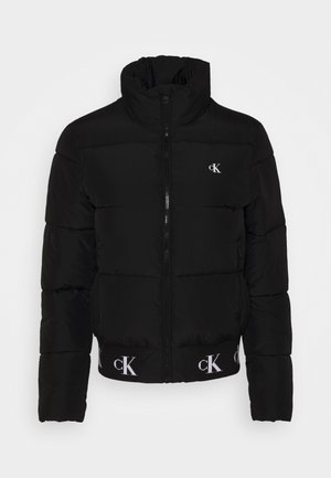 REPEATED LOGO PUFFER - Winter jacket - black