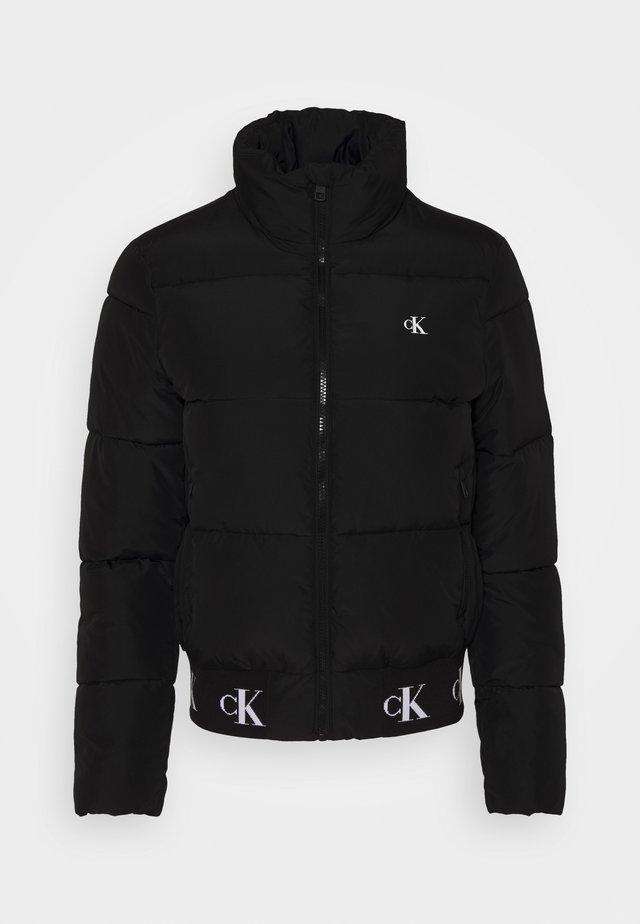 REPEATED LOGO PUFFER - Winter jacket - black