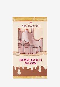 I Heart Revolution - I HEART REVOLUTION ROSE GOLD GLOW MINI CHOCOLATE PALETTE - Eyeshadow palette - multi - 4