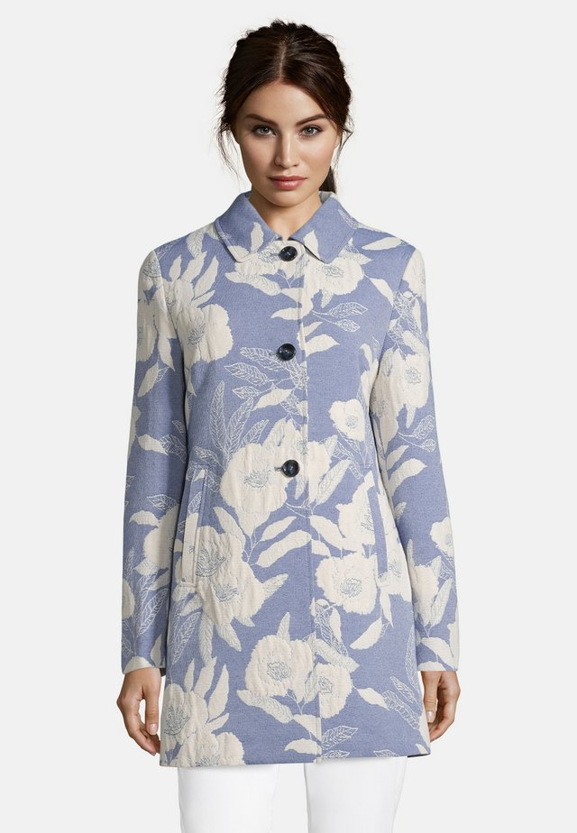 Manteau court - blue/cream