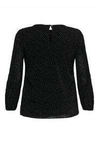 ONLY Carmakoma - ZEBRA - Long sleeved top - black - 5