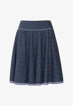 D.RO BURGAU - A-line skirt - marine/ grau