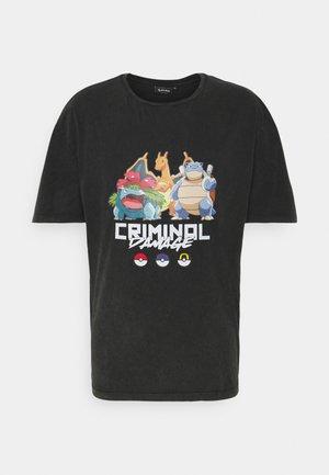 STARTER TEE - T-shirt print - black washed