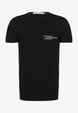 T SHIRT REPTILE BACK GRAPHIC - Print T-shirt - ck black