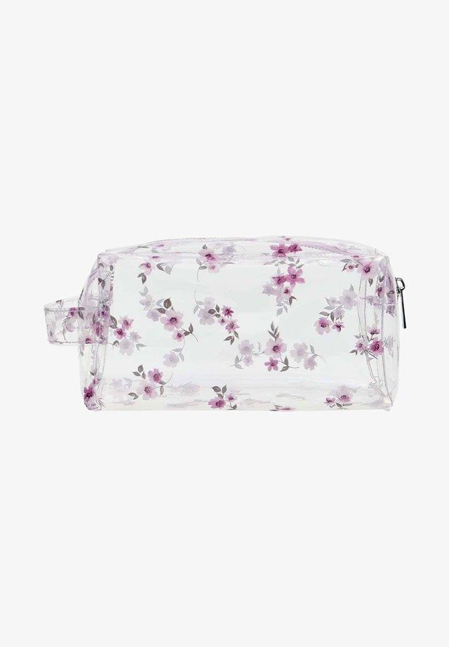 MIT BLUMENPRINT - Wash bag - mauve