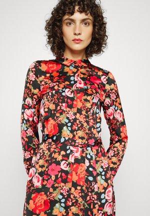 VMEMELY BELT SHIRT DRESS - Shirt dress - black