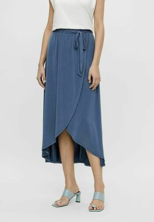 OBJANNIE NOOS - Wrap skirt - ensign blue