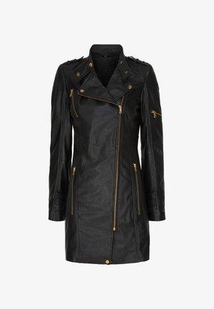 SYLVIA - Leather jacket - black