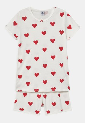 HEART PRINT  - Pyjama set - marshmallow/terkuit
