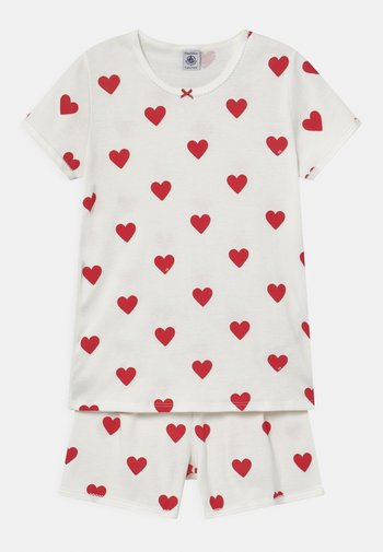 HEART PRINT  - Pyjama set - marshmallow/terkuit