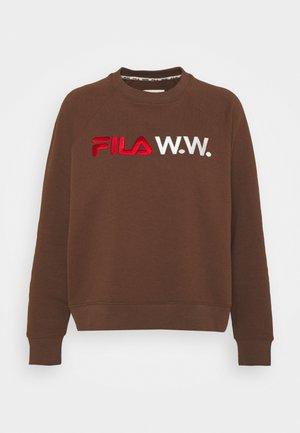 ELENA CREW - Sweater - potting soil