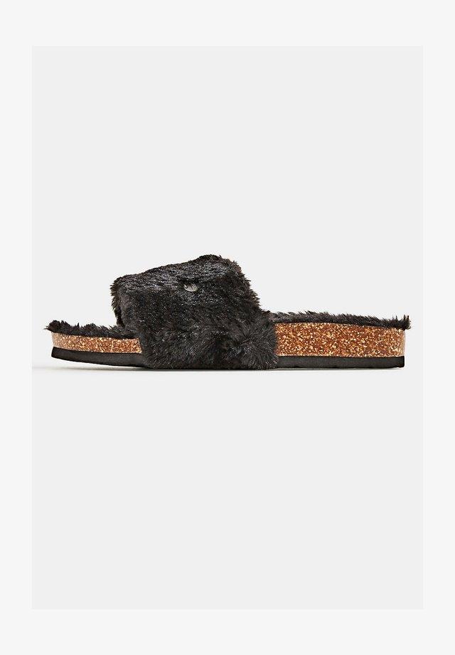 TEDDY-FELL - Slippers - black