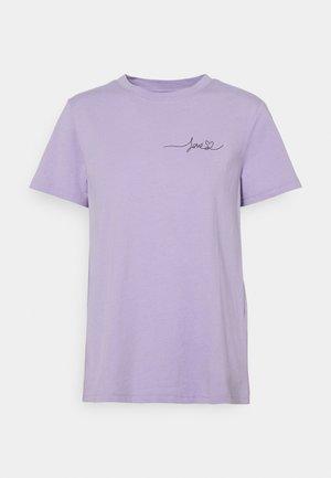 VIPURE LOVE  - Print T-shirt - lavender/black