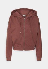 JDY - JDYSUSAN LIFE HOOD ZIP - Zip-up hoodie - rose brown - 0