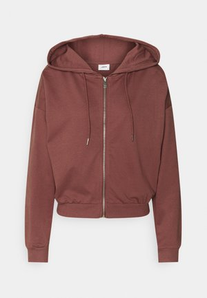 JDYSUSAN LIFE HOOD ZIP - Mikina na zip - rose brown