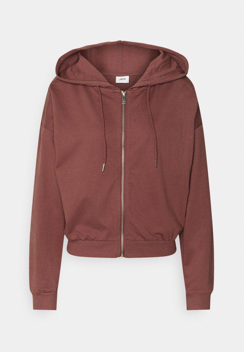 JDY - JDYSUSAN LIFE HOOD ZIP - Zip-up hoodie - rose brown