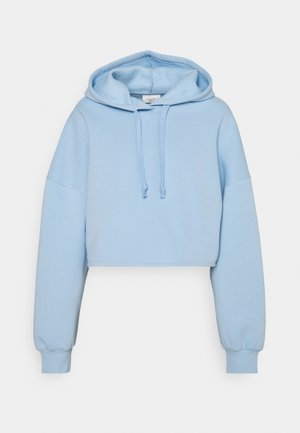 BASIC CROPPED HOOD - Jersey con capucha - blue bell