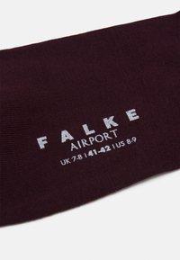 FALKE - AIRPORT KNIESTRÜMPFE SCHURWOLLE-MIX - Knee high socks - barolo - 1