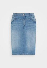 TOM TAILOR - SKIRT - Denim skirt - light stone wash denim - 3