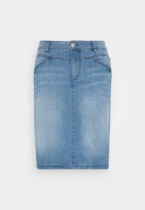 SKIRT - Denim skirt - light stone wash denim