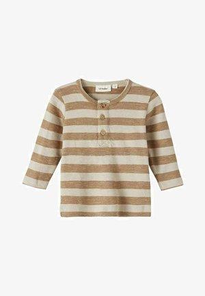 Longsleeve - brown, white