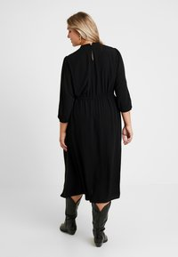JUNAROSE - by VERO MODA - JRPALOMIA 3/4 SLEEVE MIDI DRESS - Day dress - black - 3