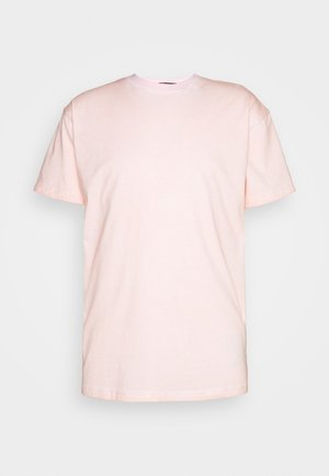 ON THE RUN PIGMENT DYE REGULAR UNISEX - T-shirts med print - pink
