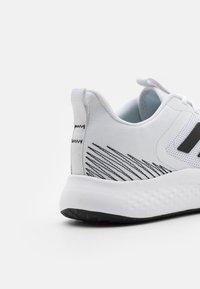 adidas Performance - FLUIDSTREET - Sportschoenen - footwear white/core black/grey five - 5
