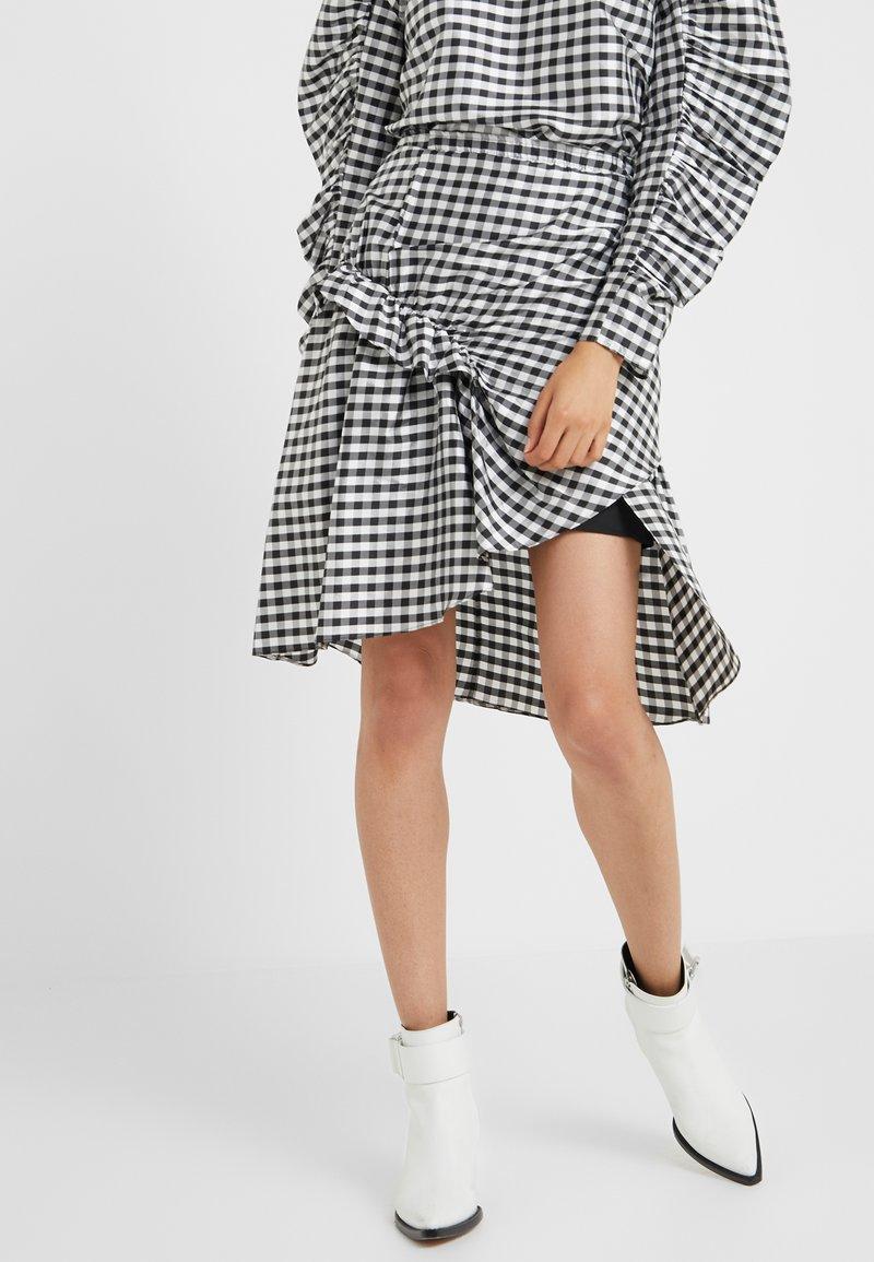 DESIGNERS REMIX - ALEXIS SKIRT - A-line skirt - black/white