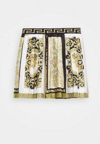 Versace - SKIRT PRINT HERITAGE - Pleated skirt - white/gold/kaki - 1