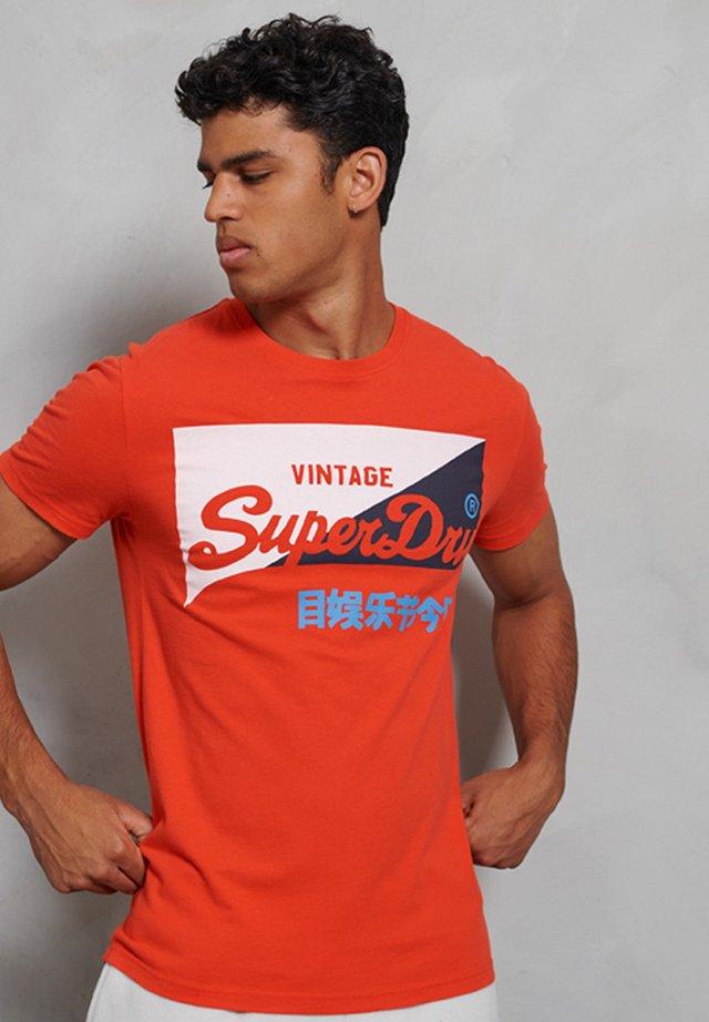Print T-shirt - baja orange