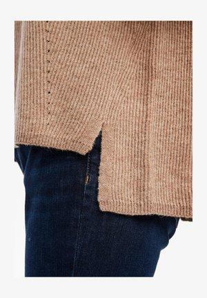 AUS GLITZER-STRUKTURSTRICK - Svetr - beige knit