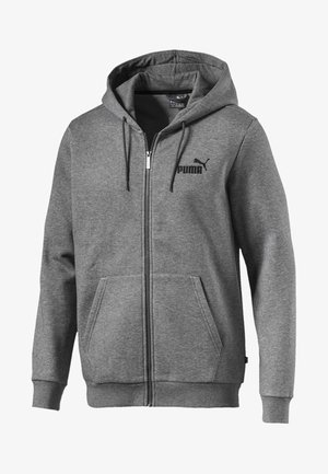 Huvtröja med dragkedja - medium gray heather