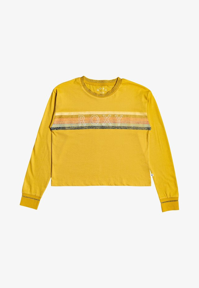 CRAZY STORY - Long sleeved top - mineral yellow