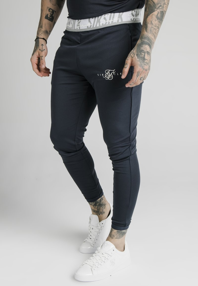SIKSILK - SCOPE TAPE TRACK PANT - Trainingsbroek - navy