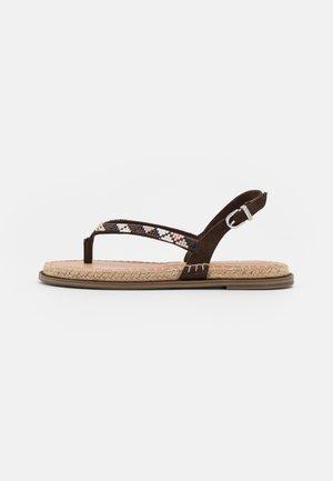T-bar sandals - chocolate