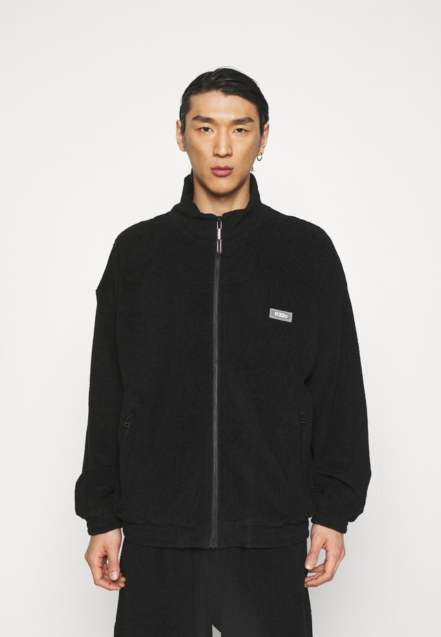 TOPOS SHAVED TERRY JACKET - Summer jacket - black