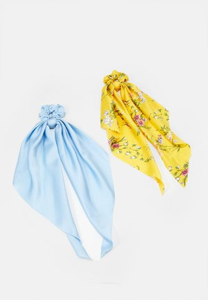PCREMYBOW SCRUNCHIE 2 PACK - Hair Styling Accessory - airy blue/yellow