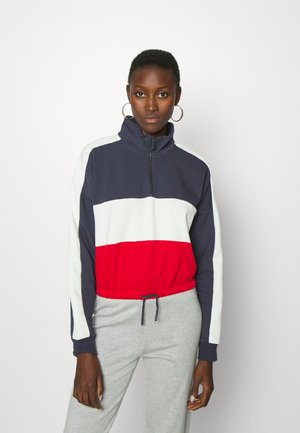 ONLMAGGI TALL - Sweatshirt - cloud dancer/urban red