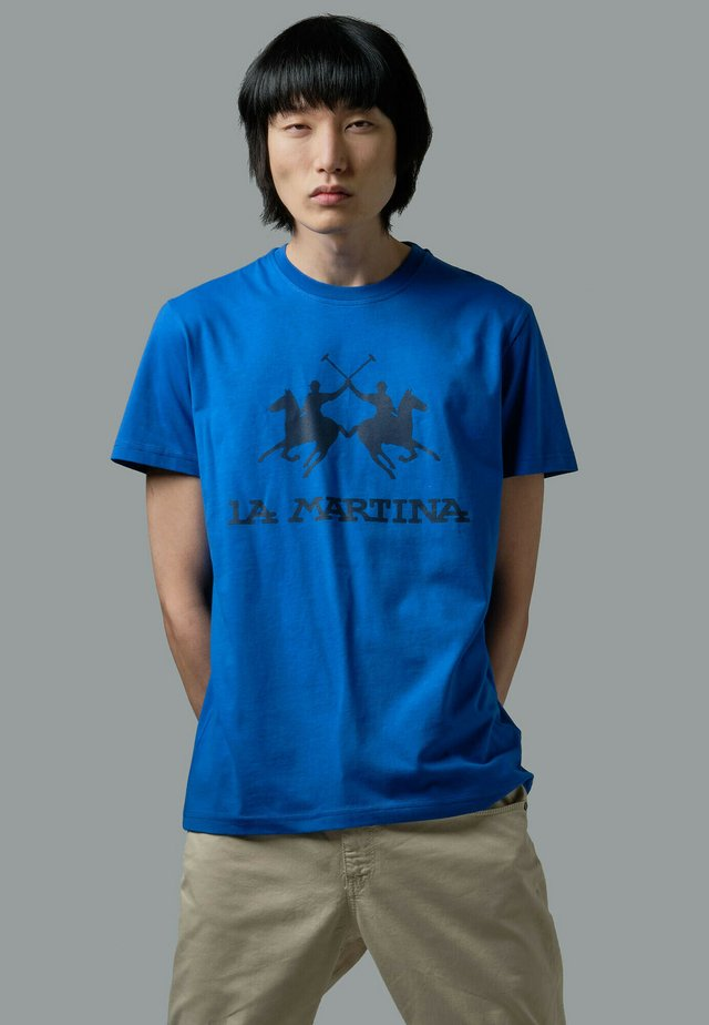 RUTGER - T-shirt con stampa - blue