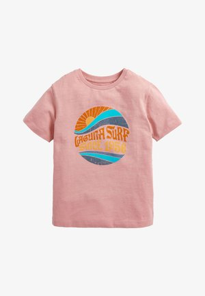 SURF GRAPHIC SHORT SLEEVED - T-Shirt print - pink